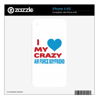 I Love My Crazy Air Force Boyfriend. Decal For The iPhone 4