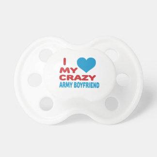 I Love My Crazy Army Boyfriend. BooginHead Pacifier