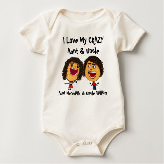 I Love My Crazy Aunt and Uncle Cartoon Bodysuit