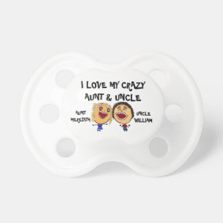 I Love My Crazy Aunt and Uncle Cartoon BooginHead Pacifier