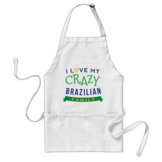 I Love My Crazy Brazilian Family Reunion T-Shirt I Adult Apron