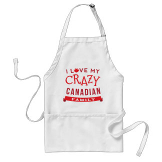 I Love My Crazy Canadian Family Reunion T-Shirt] Adult Apron