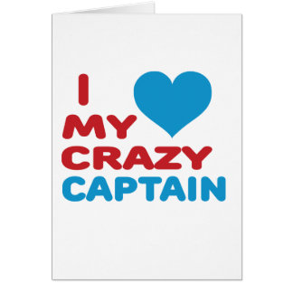I Love My Crazy Captain. Cards