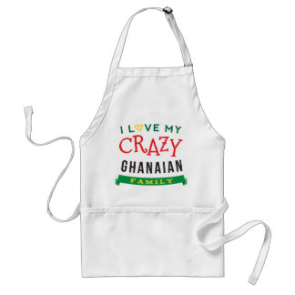 I Love My Crazy Ghanaian Family Reunion T-Shirt Id Adult Apron