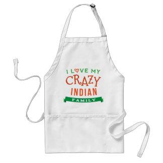 I Love My Crazy Indian Family Reunion T-Shirt Idea Adult Apron