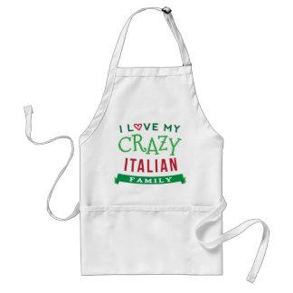 I Love My Crazy Italian Family Reunion T-Shirt Ide Adult Apron