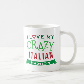 I Love My Crazy Italian Family Reunion T-Shirt Ide Classic White Coffee Mug