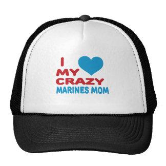 I Love My Crazy Marines Mom. Mesh Hat
