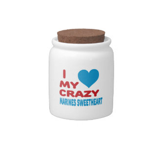 I Love My Crazy Marines Sweetheart. Candy Jars
