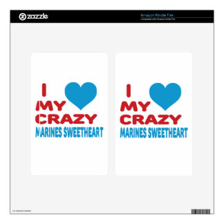 I Love My Crazy Marines Sweetheart. Kindle Fire Decals