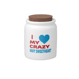 I love my crazy Navy Sweetheart. Candy Jars