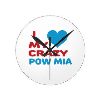 I love my crazy POW MIA. Wallclocks