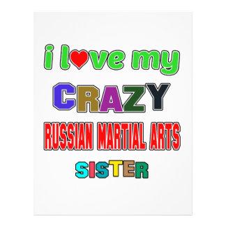 I love my crazy Russian Martial Arts Sister Letterhead