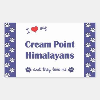 I Love My Cream Point Himalayans (Multiple Cats) Rectangular Sticker