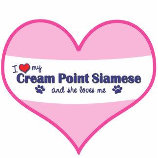 I Love My Cream Point Siamese (Female Cat) Photo Cutouts