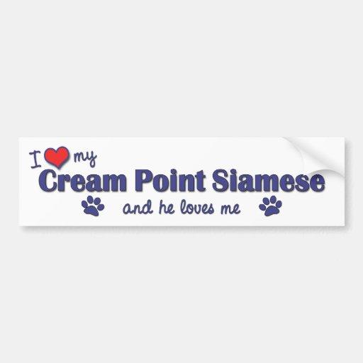 I Love My Cream Point Siamese (Male Cat) Bumper Sticker