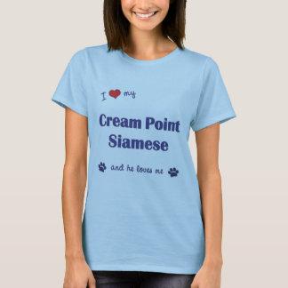 I Love My Cream Point Siamese (Male Cat) T-Shirt