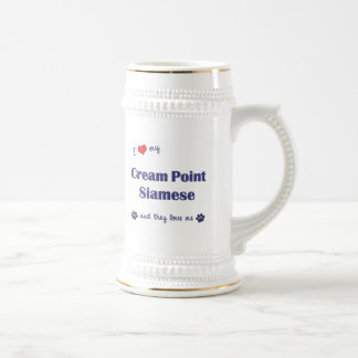 I Love My Cream Point Siamese (Multiple Cats) Beer Stein