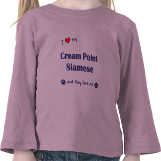 I Love My Cream Point Siamese (Multiple Cats) Tee Shirts