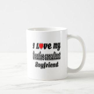 I Love My Creative consultant Boyfriend Classic White Coffee Mug