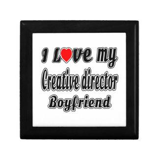 I Love My Creative director Boyfriend Trinket Boxes