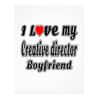 I Love My Creative director Boyfriend Customized Letterhead