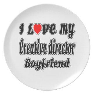 I Love My Creative director Boyfriend Dinner Plates
