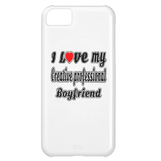 I Love My Creative professional Boyfriend Cover For iPhone 5C