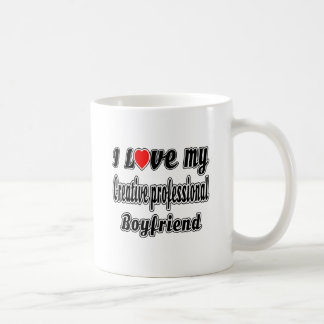 I Love My Creative professional Boyfriend Classic White Coffee Mug