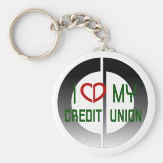 I Love my Credit Union Keychain
