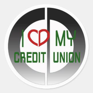 I Love my Credit Union Sticker