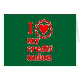 I Love My Credit Union Tshirts Card