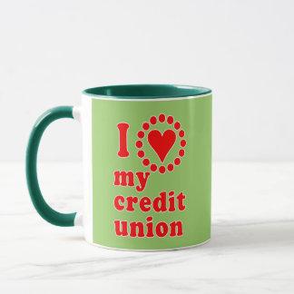 I Love My Credit Union Tshirts Mug