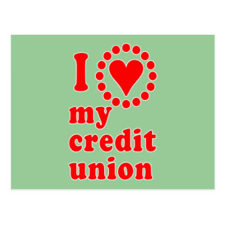 I Love My Credit Union Tshirts Postcard