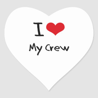 I love My Crew Heart Sticker
