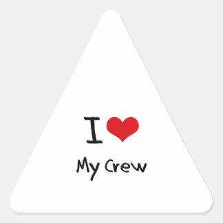 I love My Crew Triangle Sticker