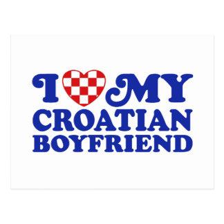 I Love My Croatian Boyfriend Postcard