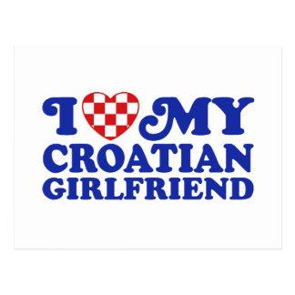 I Love My Croatian Girlfriend Postcard