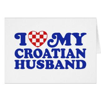 I love My Croatian Husband Greeting Card
