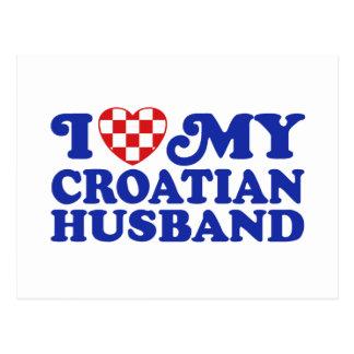 I love My Croatian Husband Postcard