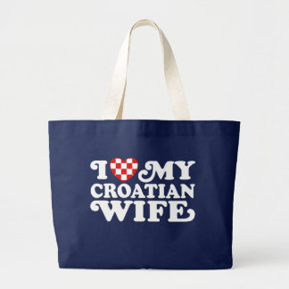 I love My Croatian Wife Jumbo Tote Bag