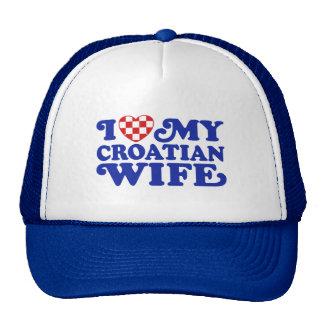 I love My Croatian Wife Trucker Hat