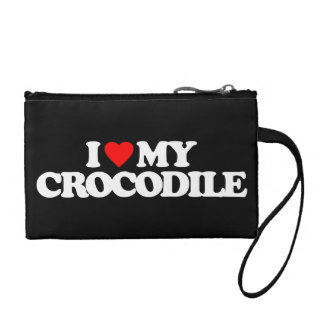 I LOVE MY CROCODILE COIN PURSE