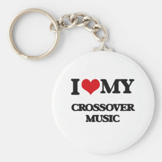 I Love My CROSSOVER MUSIC Key Chain