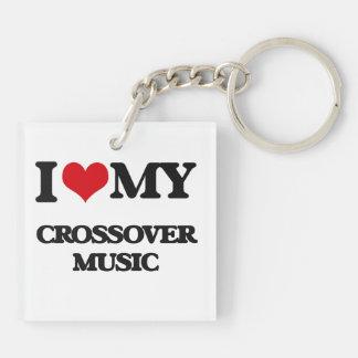 I Love My CROSSOVER MUSIC Acrylic Key Chain