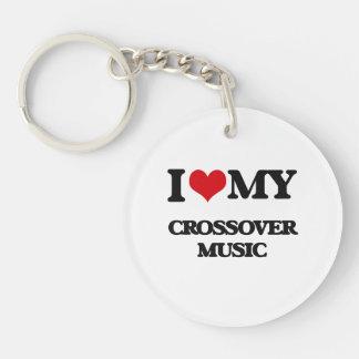 I Love My CROSSOVER MUSIC Acrylic Keychain