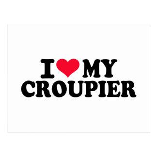 I love my Croupier Post Cards