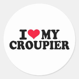 I love my Croupier Round Sticker