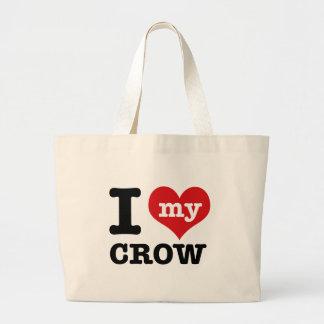 I Love my crow Canvas Bag