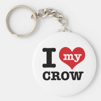 I Love my crow Keychain